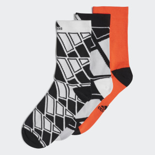 Crew Socks 3 Pairs White / Solar Red / Black FN1001