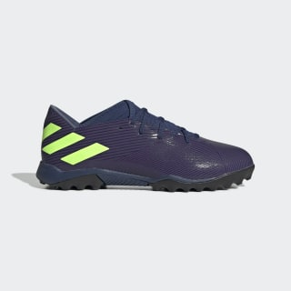 Botas de Futebol Nemeziz Messi 19.3 – Piso Sintético Tech Indigo / Signal Green / Glory Purple EF1809