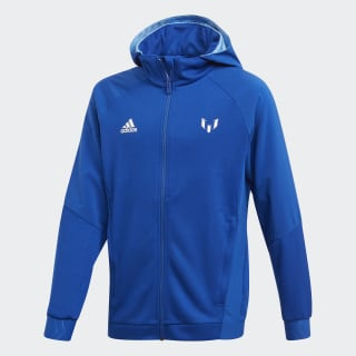 Felpa con cappuccio Messi Full-Zip Collegiate Royal / Lucky Blue ED5721