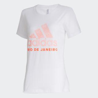 Camiseta Cidade RIO DE JANEIRO White / Solar Orange GG1978