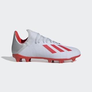 Scarpe da calcio X 19.3 Firm Ground Silver Met. / Hi-Res Red / Cloud White F35365