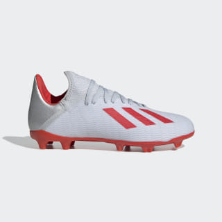 X 19.3 Firm Ground Voetbalschoenen Silver Met. / Hi-Res Red / Cloud White F35365
