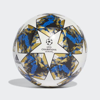 Balón UCL Finale 19 Capitano White / Football Blue / Black / Gold Met. DY2555