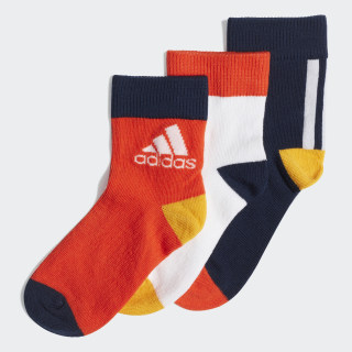 Три пары носков Ankle collegiate navy / white / active orange ED8616