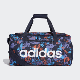 Linear Core Graphic Duffel Bag Small Legend Ink / Shock Cyan / White DT5653