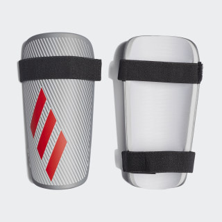 X Lite Shin Guards Silver Met. / Hi-Res Red / White DY2576