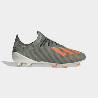 Zapatos de Fútbol X 19.1 Terreno Firme Legacy Green / Solar Orange / Chalk White EF8296