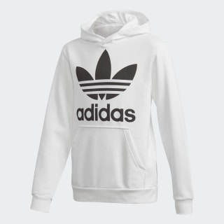 Sweat-shirt à capuche Trefoil - blanc adidas   adidas France efc49cec08ab