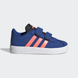 VL Court 2.0 Shoes Team Royal Blue / Signal Coral / Core Black EG3891
