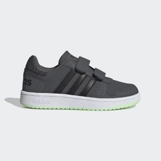 Кроссовки Hoops 2.0 grey six / core black / glow green EE6723