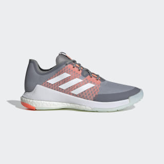 Crazyflight Schuh Grey Three / Cloud White / Signal Coral EG2343