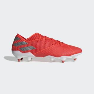 Calzado de fútbol Nemeziz 19.1 Soft Ground Active Red / Silver Metallic / Solar Red F99855