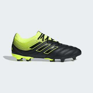 Chuteiras de Campo Copa 19.3 Core Black / Solar Yellow / Core Black BB8090