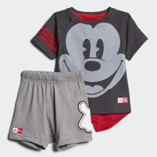 Conjunto de Verano Disney Mickey Mouse UTILITY BLACK F16/SCARLET /GREY THREE F17/WHITE/SCARLET CE9815