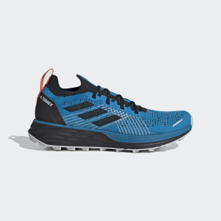 TERREX Two Parley Trailrunning-Schuh Sharp Blue / Core Black / True Orange FW2543