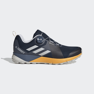 Terrex Two Boa GTX Shoes Collegiate Navy / Grey One / Active Gold G26395
