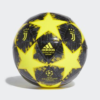 Футбольный мяч Ювентус Finale 18 Capitano shock yellow / yellow / carbon / black CW4144