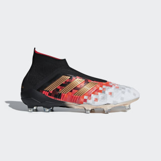 Botas de Futebol Predator Telstar 18 – Piso Firme Core Black / Copper Met. / Ch Solid Grey BB7414