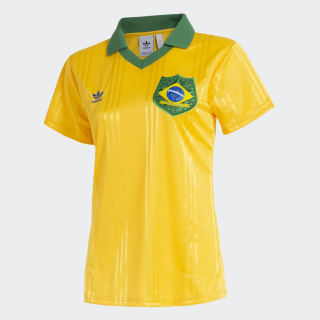 Camisa Brasil Fan Tee Feminina yellow FT6423