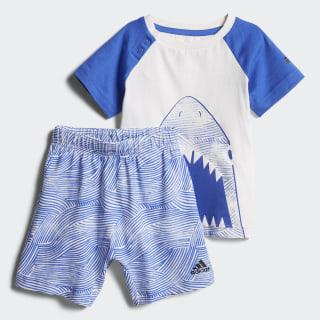 Conjunto Summer Fun WHITE/HI-RES BLUE S18/BLACK WHITE/HI-RES BLUE S18/BLACK CF7424