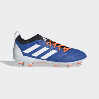 Malice Elite Soft Ground Boots Blue / Cloud White / Solar Orange F35813