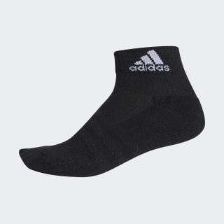 3-Stripes Performance Ankle Socks 1 Pair Black / Black / White AA2292