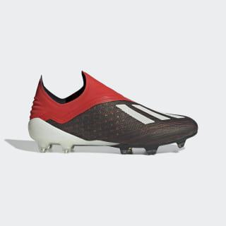 Bota de fútbol X 18+ césped natural seco Core Black / Ftwr White / Active Red BB9335