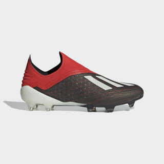 Bota de fútbol X 18+ césped natural seco Core Black / Ftwr White / Active Red BB9335