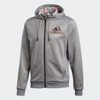 Chamarra con Gorro Commercial Badge of Sports Full-Zip CH SOLID GREY/MGH SOLID GREY BQ4733
