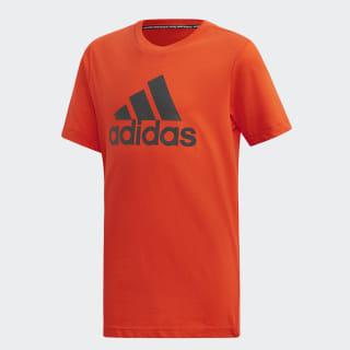 Polera Badge of Sport Must Haves Active Orange / Grey Six DV0825