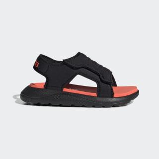 Comfort Sandals Core Black / Solar Red / Cloud White EG2229