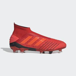 Футбольные бутсы Predator 19+ FG active red / solar red / core black BC0547