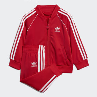 SST Track Suit Scarlet / White EI9855