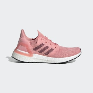 Ultraboost 20 Shoes Glory Pink / Maroon / Signal Coral EG0716