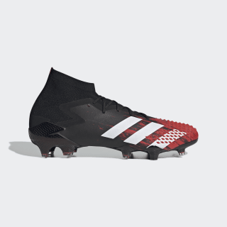 Botas Futebol Predator Mutator 20.1 – Piso firme Core Black / Cloud White / Active Red EF1629