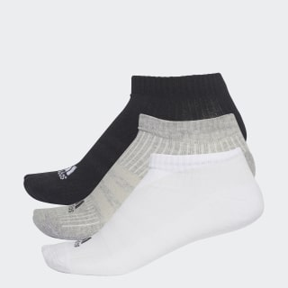 Calcetines Tres Rayas No-Show 3 Pares BLACK/MEDIUM GREY HEATHER/WHITE AA2281