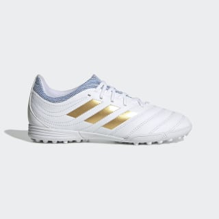 Kopačky Copa 19.3 Turf Cloud White / Gold Met. / Football Blue F35464