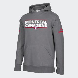Canadiens Squad Pullover Hoodie Nhl-Mca-508 / Dark Grey Heather / Crimson D78414