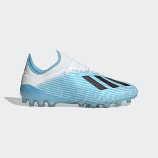 X 19.1 Artificial Grass Boots Bright Cyan / Core Black / Shock Pink FU7040