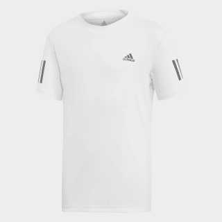 Футболка для тенниса 3-Stripes Club White / Black DU2486