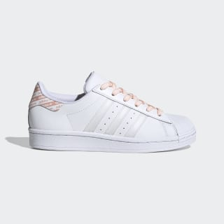 Superstar Schuh Cloud White / Cloud White / Glow Pink FV3761