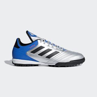 Calzado de Fútbol Copa Tango 18.3 Césped Artificial SILVER MET./CORE BLACK/FOOTBALL BLUE DB2410