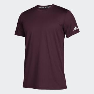 T-shirt Clima Tech Maroon / White CZ0136