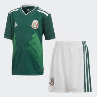 Kit Mexico Home Mini 2018 COLLEGIATE GREEN/WHITE WHITE/COLLEGIATE GREEN BQ4657