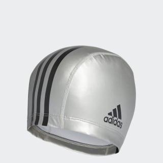 coated fabric swim cap Silver Metallic / Black F80779