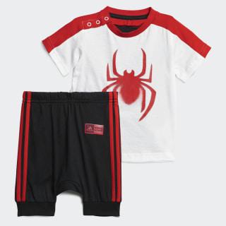 Conjunto Marvel Spider-Man Summer White / Black / Active Red DV0833
