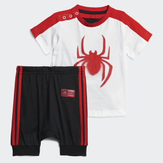 Marvel Spider-Man Yazlık Takım White / Black / Active Red DV0833