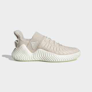 Alphabounce EX Trainer Shoes Linen / Core White / Glow Green DB3349