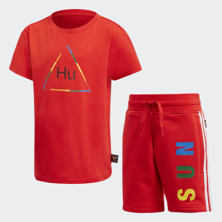 Pharrell Williams Tee Set Red FR9067