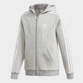Veste à capuche Full Zip Medium Grey Heather   White DH2702 f7331c11b710